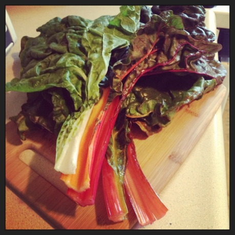 Rainbow Chard, the most stunning of all the leafy greens!
